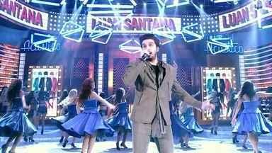 Luan Santana agita o Domingão do Faustão cantando 'Chuva de Arroz' - Cantor faz a alegria dos fãs e empolga a galera