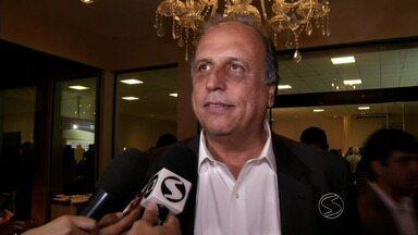 Governador Luiz Fernando Pezão participa da semana de negócios em Volta Redonda, RJ - Evento reuniu empresários dos setores metal-mecânico e automotivo da região.