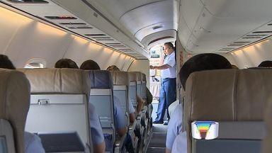 Alunos do ITA participam de ensaio de voo com manobras radicais - Estudantes de São José buscam crescimento dentro da Aeronáutica.