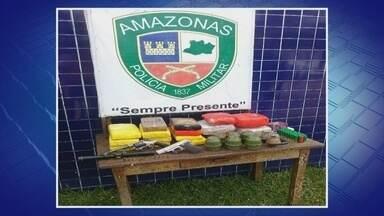 Polícia apreende granadas e 16 Kg de drogas em Tabatinga, no Amazonas - Mulher foi detida durante operação ocorrida após denúncias.Armas e munições também foram encontradas pela polícia.