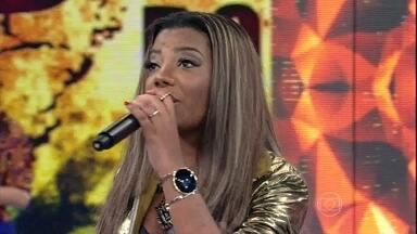 Ludmilla arrasa cantando 'Não Quero Mais' - Cantora empolga a plateia do Domingão com hit de sucesso