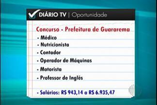 Guararema tem inscrições abertas para concurso público - São oito vagas para efetivação imediata e 32 para reserva.