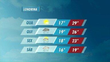 Tempo fica fechado hoje no Paraná - Amanhã (09/09) o sol deve aparecer na região de Londrina.