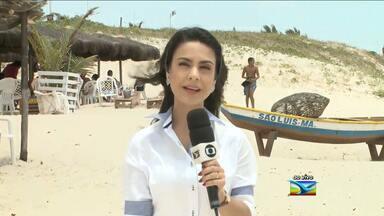 JMTV mostra movimentação na praia de São Marcos, em São Luís (MA) - Camila Marques esteve na praia de São Marcos em São Luís (MA), para mostrar a movimentação no feriado.