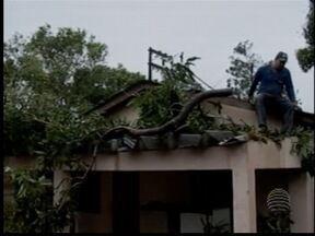 Chuva e vento causam estragos em Presidente Prudente e região - Moradores de Eneida tiveram casas destelhadas.
