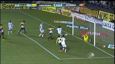 Vitória enfrenta o Criciúma; veja o primeiro gol - A partida é fora de casa e o rubro-negro busca vencer para recuperar a liderança da Série B.