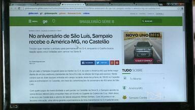Destaques do GloboEsporte.com/ma - Destaques do GloboEsporte.com/ma desta terça-feira (08.09.15) com o redator Afonso Diniz.