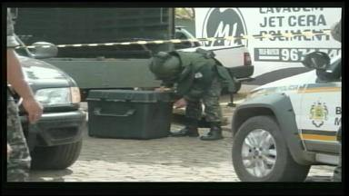 Granada é encontrada em lavagem de carros no Centro de São Borja, RS - Exército está analisando o material, que deve ser destruído nesta quarta-feira (9).