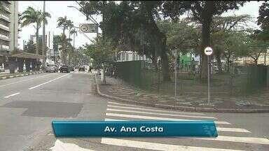 Obra de recapeamento da avenida Ana Costa deve mexer com o trânsito em Santos - Segundo a prefeitura, serviços no local devem durar aproximadamente três meses.
