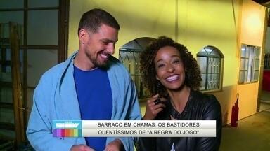 Cauã Reymond afirma: 'Prefiro cena com diálogos' - Vídeo Show acompanha gravação de incêndio em A Regra do Jogo