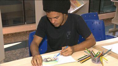 Crianças aprendem literatura através da pintura em Campina Grande - Através da arte, elas estão conhecendo obras de pintores de renome da literatura brasileira.