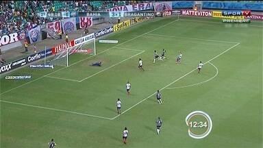 Bahia pôs fim à sequência de vitórias do Braga - Jogo terminou Bahia 3; Bragantino 2.