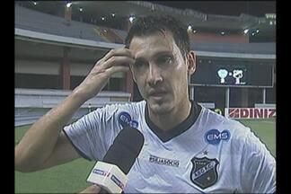 Adriano Alves fala de empenho para salvar ABC do rebaixamento - Zagueiro abecedista dá entrevista logo após derrota por 3 a 2 para o Paysandu