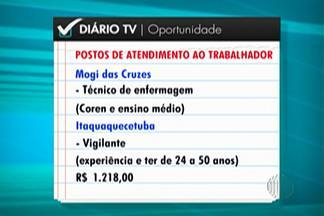 Confira as diversar vagas de emprego oferecidas pelos PAT's do Alto Tietê - Em Mogi das Cruzes tem oportunidade para técnico em enfermagem.