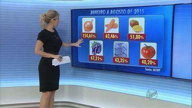 Veja lista de produtos com preços mais altos em Ribeirão Preto, SP - Alimentos como cebola e cenoura foram alguns dos produtos com maiores aumentos.