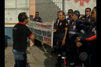 Funcionários do Samu paralisam atividades por 12 horas em Belém - Trabalhadores protestam contra as condições de trabalho.