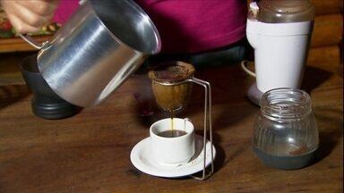 Veja como colher e preparar o café colhido em casa - Depois de colher os frutos, coloque para secar por 25 a 30 dias. Depois que o café estiver seco, coloque no pilão. Veja todas as dicas no vídeo.