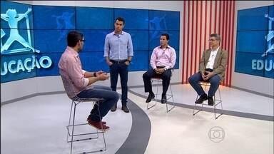 1º Bloco   Mudança de perfil dos brasileiros mexe com regras da aposentadoria - Professores de geografia e matemática debatem o assunto.