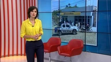 Assaltantes usam pé de cabra pra arrombar caixa eletrônico em Sirinhaém - Banco não revelou a quantia que foi levada.