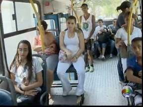 Katiuscia Reis acompanha o trajeto de ônibus em Pres. Prudente - Passageiros reclamam de falta de linhas e lotação.