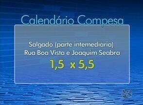 Confira o calendário de abastecimento de água para esta quarta (24) em Caruaru - Para alguns bairros o rodízio é de dois dias com água e oito sem, para outros é de dois com fornecimento e cinco sem.