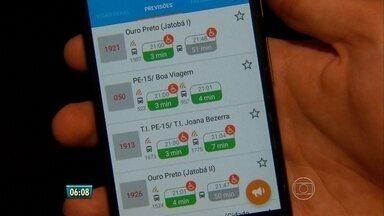 Aplicativo gratuito mostra horários e paradas de ônibus - Tecnologia é recifense e tem mais de 2 milhões de usuários em 17 cidades.
