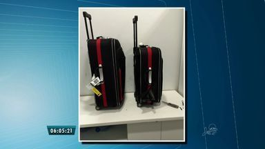 Polícia apreende 2 quilos de cocaina escondido em mala no aeroporto de Fortaleza - Baiano que trazia a droga também foi preso.