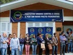 Municípios da região protestam contra situação financeira das prefeituras - Apenas serviços básicos de saúde foram mantidos