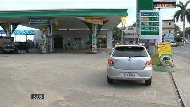 Aumento no preço dos combustíveis já tem reflexo nos postos - Reajuste que começou nas refinarias pegou os motoristas de surpresa de Norte a Sul do país.