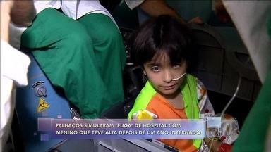 Dupla que interpreta palhaços em hospital simula 'fuga' com paciente em Belo Horizonte - Fernando e Francis contam como foi o contato com o pequeno Matheus