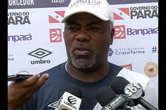 Cacaio testa Remo com três atacante, mas não define time - Treinador não confirma equipe que vai enfrentar o Palmas, sábado, no Mangueirão.