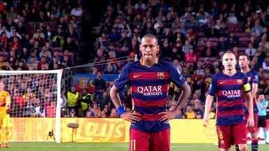 Sem Messi, Neymar assume controle das jogadas e protagonismo no Barcelona - Além da baixa importante, outros quatro jogadores da equipe também estão no departamento médico.