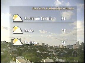 Meteorologia descarta possibilidade de chuva no Oeste Paulista - Dia começa um pouco abafado em Presidente Prudente.