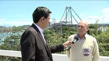 Nova fase de obras na Ponte Hercílio Luz vai custar em torno de R$ 11 milhões - Nova fase de obras na Ponte Hercílio Luz vai custar em torno de R$ 11 milhões, diz engenheiro responsável