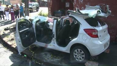 Acidentes graves deixam dois mortos em Londrina - Um dos acidentes foi no centro da cidade e outro na zona norte.
