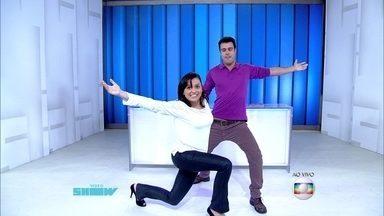 Monica Iozzi e Joaquim Lopes dançam valsa no Vídeo Show - Apresentadores se inspiram no Dança dos Famosos