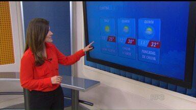 Confira a previsão do tempo para a terça-feira (06) - Em Curitiba, mínima de 10 graus e máxima de 25 graus.