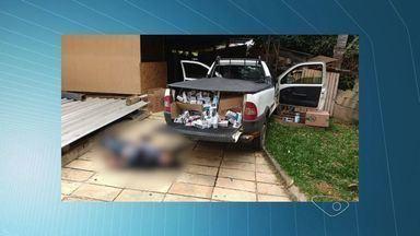 Suspeito é morto durante assalto a distribuidora de cigarros no ES - Três homens armados renderam os funcionários da empresa em Santa Maria de Jetibá.