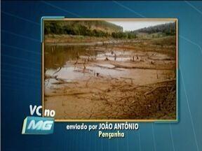 SOS Água: Novo quadro do MG Inter TV recebe denúncias de falta d'água na região - Telespectador de Peçanha reclama da falta d'água há uma semana na cidade.