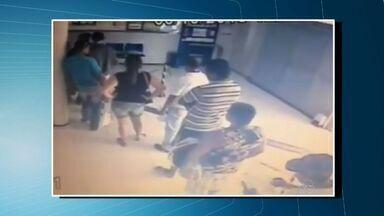 Homem é assassinado em lotérica de Maranguape, na Grande Fortaleza - Imagens de câmera de segurança registraram o crime.