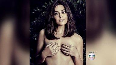 Outubro Rosa: Juliana Paes tira fotos de topless para alertar sobre câncer de mama - A cada quatro novos casos de câncer descobertos entre mulheres, um é de mama