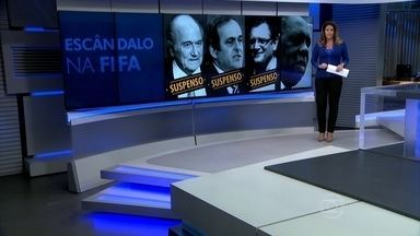 Comitê da Fifa suspende Joseph Blatter, Michel Platini e Jérôme Valcke - Os três manda-chuvas da entidade são suspeitos de participar de desvios. Presidente interino da Fifa é Issa Hayatou, também acusado de corrupção.