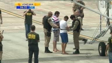 Dois presos da operação Corte Seguro são transferidos para SC - Dois presos da operação Corte Seguro são transferidos para SC