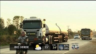 Confira a previsão do tempo para Goiás - Previsão é de sol e calor para esta sexta-feira (9) no estado.