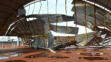 Temporal causa estragos em Borrazópolis - Aproximadamente 200 casas foram danificadas na cidade