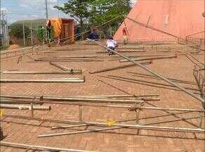 Estrutura para o Projeto Ciranda começa a ser montada em Palmas - Estrutura para o Projeto Ciranda começa a ser montada em Palmas