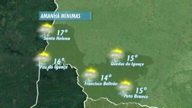 Domingo será de muita nebulosidade na região - Veja a previsão no mapa