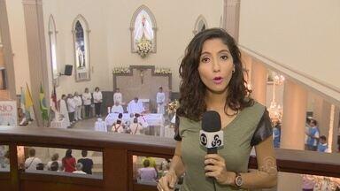 Em Manaus, missa inicia comemorações pelo Círio de Nazaré - Procissão acontece neste domingo.