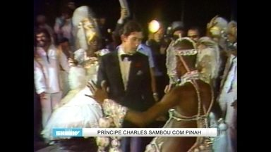 Relembre príncipe Charles sambando com Pinah - Apresentadores do Vídeo Show brincam com dança da realeza