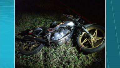 Casal de namorados morre em acidente envolvendo três motos - Acidente foi na PR-160, entre Curiúva e Telêmaco Borba